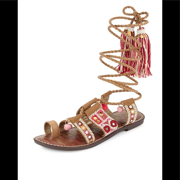 4219e408422 Gretchen camel and pink boho sandals. Boutique. Sam Edelman